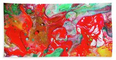 Dance Of Love - Colorful Happy Art Paintings Beach Towel by Modern Art Prints