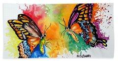 Dance Of The Butterflies Beach Towel by Maria Barry