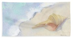 Beach Sheet featuring the painting Dance Of The Sea - Australian Trumpet Shell Impressionstic by Audrey Jeanne Roberts