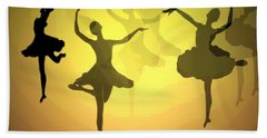 Dance With Us Into The Light Beach Towel by Joyce Dickens