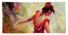 Beach Towel featuring the painting Dancer by Steve Henderson
