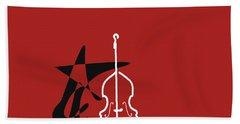 Dancing Bass In Orange Red Beach Sheet by David Bridburg