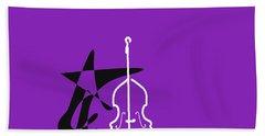 Dancing Bass In Purple Beach Sheet by David Bridburg