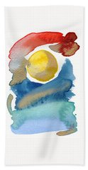 Beach Towel featuring the painting Dancing by Bee-Bee Deigner