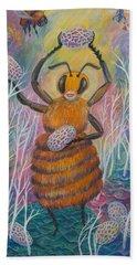 Dancing Bee Beach Towel