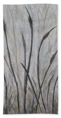 Dancing Cattails 3 Beach Towel by Trish Toro
