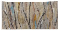Dancing Cattails I Beach Towel by Trish Toro