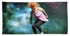 Dancing In Space Beach Towel