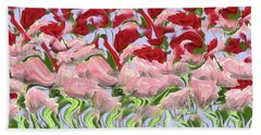 Dancing In The Garden Beach Towel by David Dehner