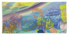 Dancing Jellies Beach Towel by Meryl Goudey