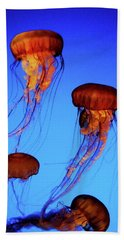 Beach Sheet featuring the photograph Dancing Jellyfish by Anthony Jones
