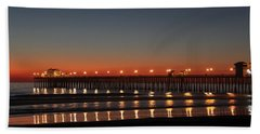 Beach Towel featuring the photograph Dancing Lights by Amy Gallagher