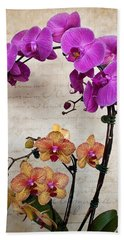 Dancing Orchids Beach Towel