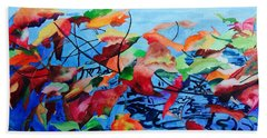 Beach Towel featuring the painting Dancing Over Water by Patti Ferron