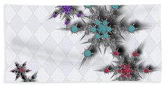 Dancing Snowflakes Beach Towel
