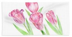 Dancing Tulips Beach Towel