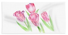 Dancing Tulips Beach Sheet