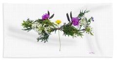 Dandelion Balancing Act Beach Towel by Lise Winne