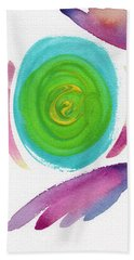 Beach Towel featuring the painting Dandelion by Bee-Bee Deigner