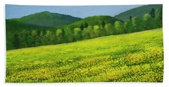 Beach Towel featuring the painting Dandelion Bloom by Frank Wilson