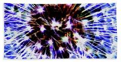 Dandelion Fireworks Beach Towel