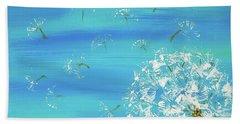 Dandelion Flight Beach Sheet