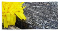 Dandelion Flower Beach Towel
