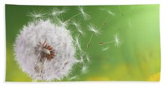 Dandelion Flying Beach Towel