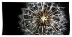 Beach Towel featuring the photograph Dandelion Seed by Darcy Michaelchuk