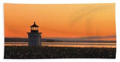 Dandelions At Sunrise Beach Towel