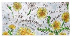 Dandelions Beach Sheet