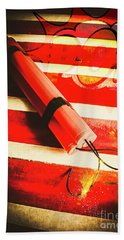 Danger Bomb Background Beach Towel