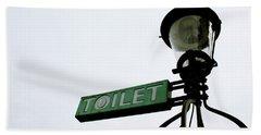 Danish Toilet Sign Beach Towel