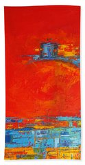 Dare -  Modern Abstract Oil Painting Palette Knife Beach Towel