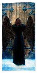 Dark Angel At Church Doors Beach Sheet