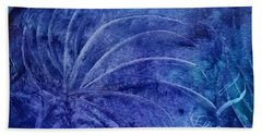 Dark Blue Abstract Beach Towel