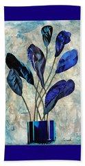 Dark Blue Beach Towel by Sarah Loft