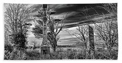 Beach Towel featuring the photograph Dark Days by Brian Wallace