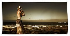 Dark Dramatic Fine Art Beauty Beach Sheet