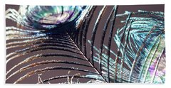 Dark Feathers Beach Towel