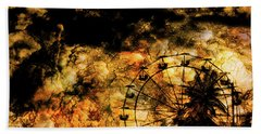 Dark Ferris Wheel Beach Sheet by Don Gradner