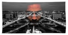 Dark Forces Controlling The City Beach Towel by ISAW Gallery