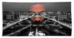 Dark Forces Controlling The City Beach Towel