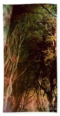 Beach Towel featuring the photograph Dark Hedges by Mary-Lee Sanders