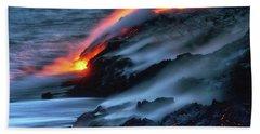 Dark Lava Beach Towel