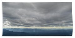 Dark Mountains Beach Towel