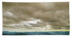 Dark Mountains Too Beach Towel