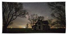 Dark Places On The Prairie  Beach Towel by Aaron J Groen