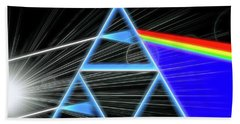 Beach Sheet featuring the digital art Dark Side Of The Moon by Dan Sproul