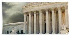 Dark Skies Above Supreme Court Of Justice Beach Towel